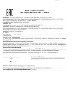 Customs Union Declaration